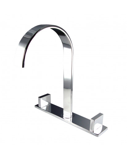 Fresca Sesia Widespread Mount Bathroom Vanity Faucet - Chrome