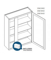 Taylor Espresso High Blind Wall Cabinet-1 Door, 3 Adjustable Shelf(Left or Right side)