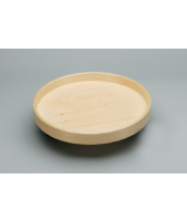 "RAS 20"" LD Wood Full Circle Trays W/Steel Bearing (1/pkg)"