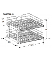 "Madrid Cherry Double Wire Rollout Tray for 24"" Base"