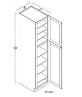 Taylor Espresso Tall Pantry,  1 Upper Door, 1 Lower Door, 5 Adjustable Shelf