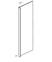 "Greystone Shaker Refrigerator End Panel 96"" High with 3"" Return"