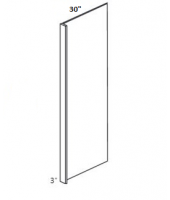 "Greystone Shaker Refrigerator End Panel 30"" Wide & 96"" High with 3"" Return"