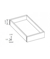 "Natural Roll Out Tray for 27"" Space (2/pkg)"