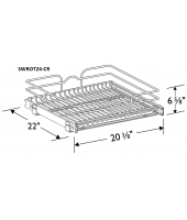 "Grenada Cherry Single Wire Rollout Tray for 24"" Base"