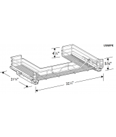 Grenada Cherry Undersink U-shaped Wire Pullout Shelf