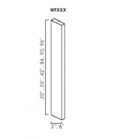 "Greystone Shaker Wall Filler 3"" Wide & 84"" High"